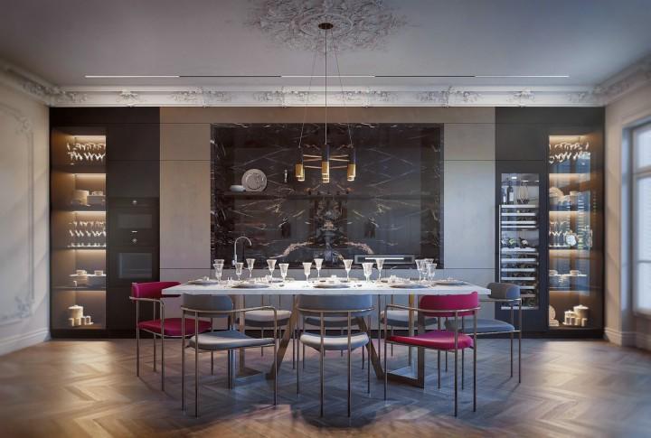 欧式复古极致浪漫风-餐厅