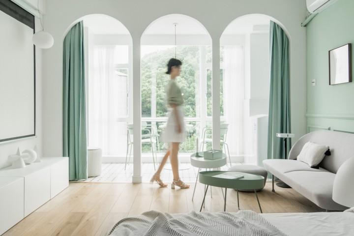 清新薄荷公寓设计-客厅1