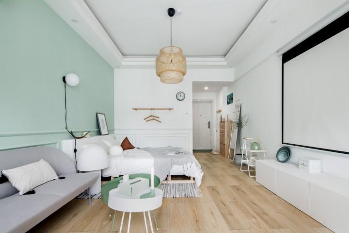 清新薄荷公寓设计-客厅2