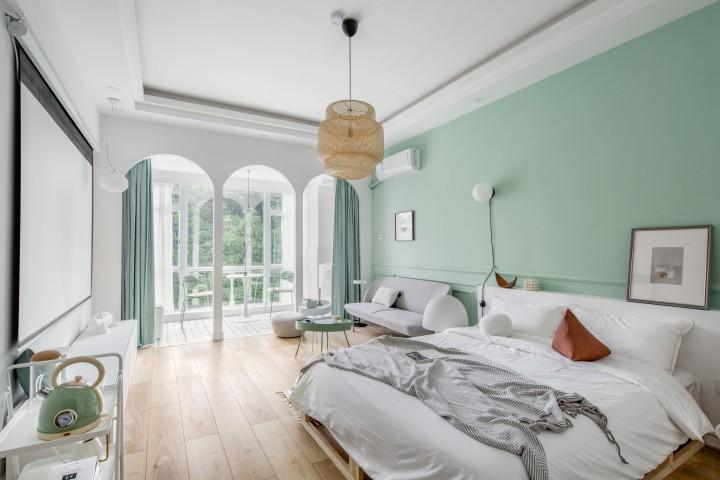 清新薄荷公寓设计-卧室1