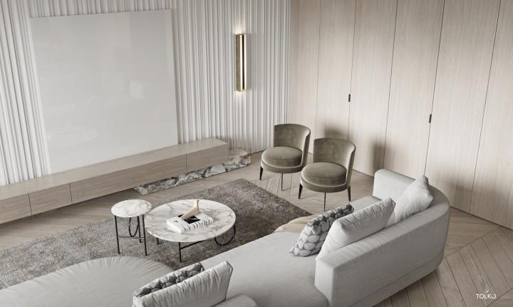 輕奢極簡風裝修設計-客廳